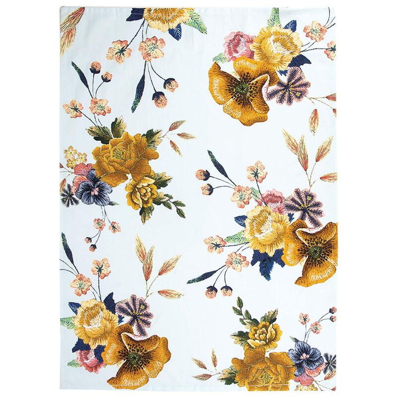 Stitch Floral Tea Towel -  assorted