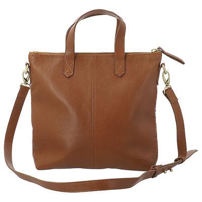 Colene Woven Leather Small Shopper Bag