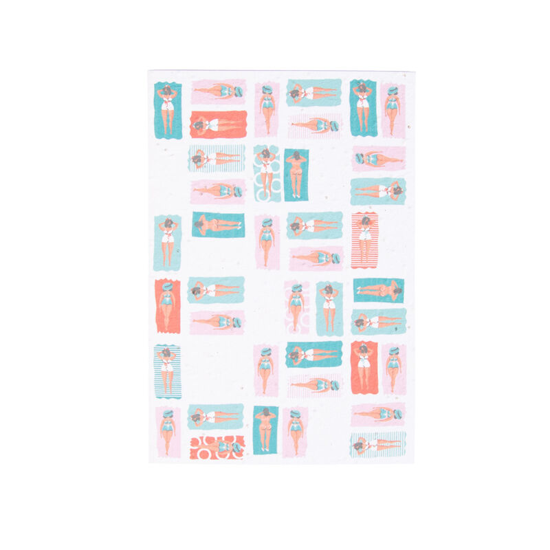 Growing Paper Colourblock Swimmers Card -  assorted