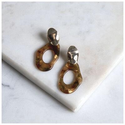 Medium Organic Resin Earrings