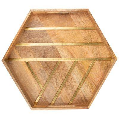 Wood & Brass Tray