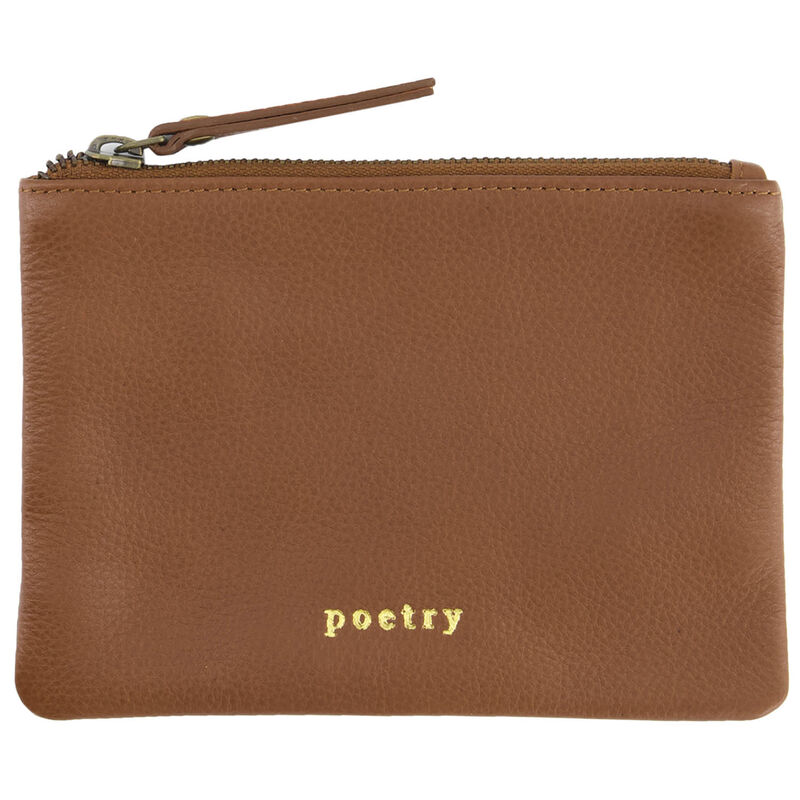 Moira Leather Small Pouch -  tan-tan