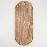 Light Wash Large Wood Platter -  brown
