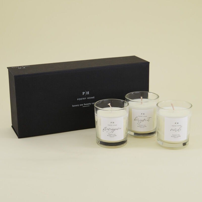 Beauty Soy Candle Gift Set -  c01
