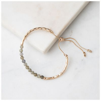 Freshwater Pearl & Natural Stone Adjustable Bracelet