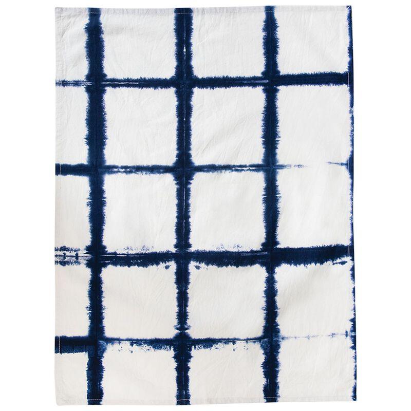 2-Pack Shibori Tea Towels -  blue-white