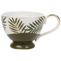 Kapula Green Tropical Mug -  green-gold