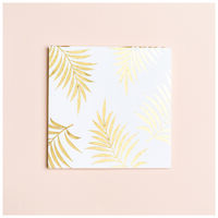 Gold Leaf Card -  white-gold