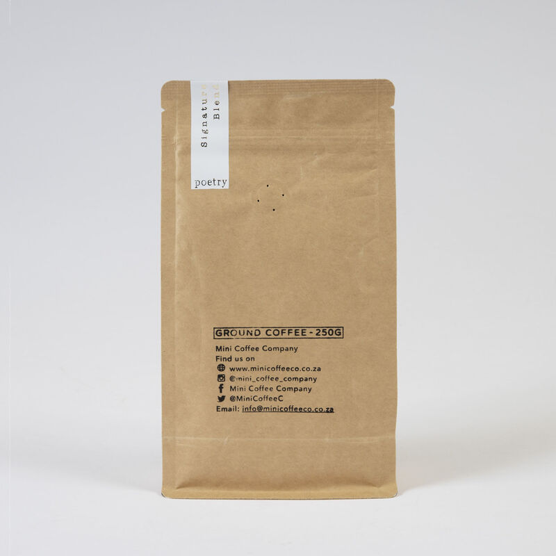 Poetry Signature Blend Ground Coffee -  white