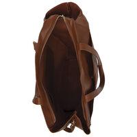 Kaelyn Vegan Leather Tote -  rust