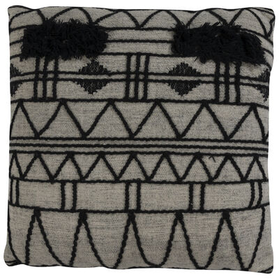 Black and Charcoal Floor Cushion