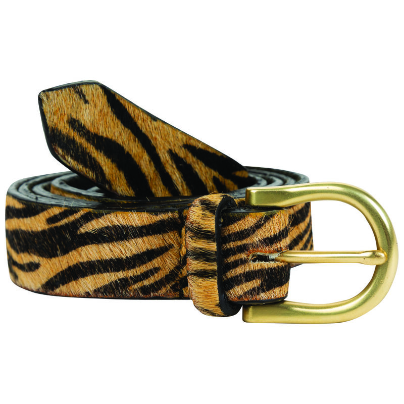 Harlotte Modern Animal Print Belt -  milk-brown
