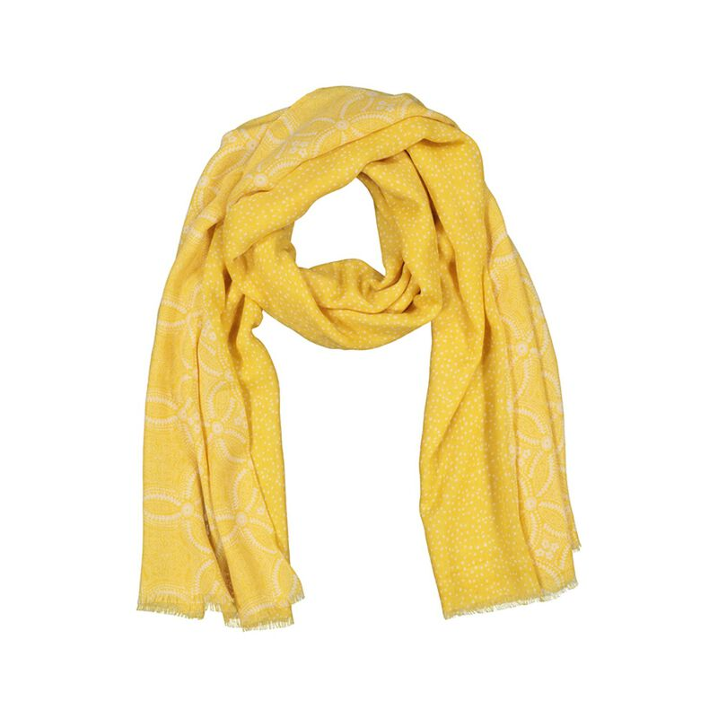 Kadence Floral Scarf -  yellow-milk