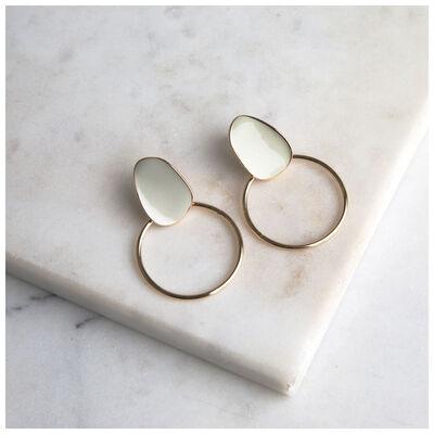 Epoxy Circle Drop Earrings