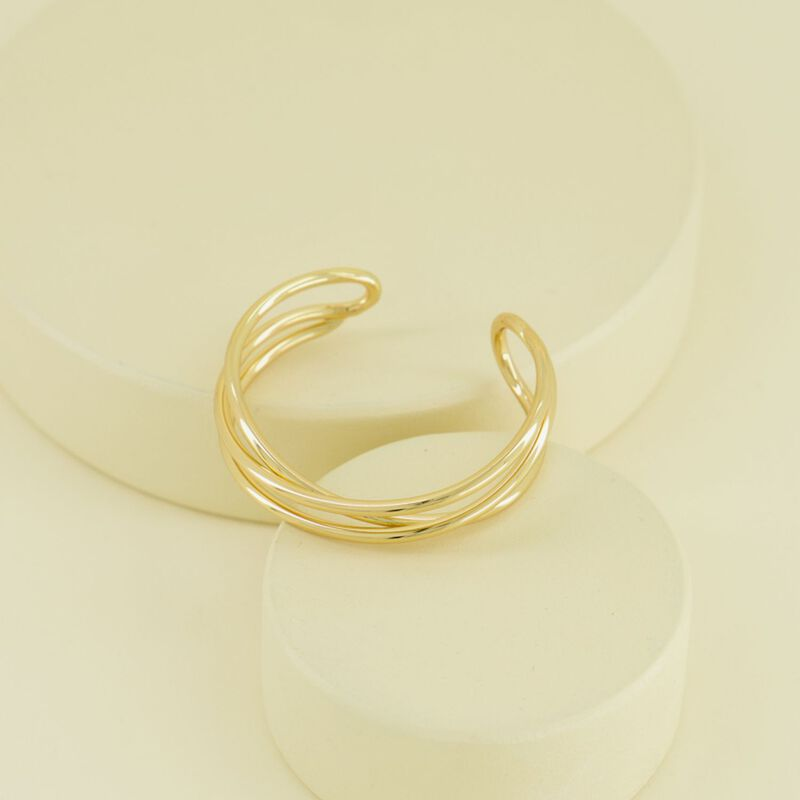 Gold Linear Cuff -  gold