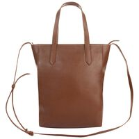 Kristy Structured Leather Shopper -  brown