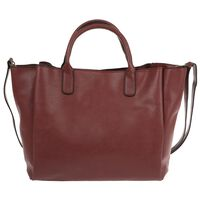 Clementine Vegan Leather Shopper Bag -  berry
