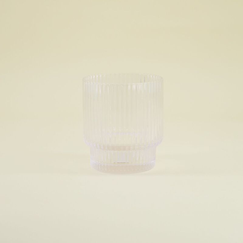 Short Ribbed Glass -  dc0000