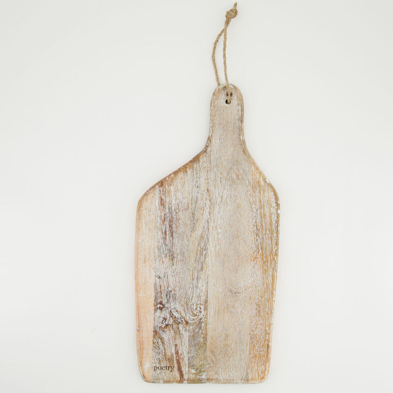 Light Wash Wooden Organic Paddle Board -  brown