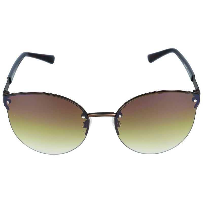 Frameless Catseye Sunglasses -  brown
