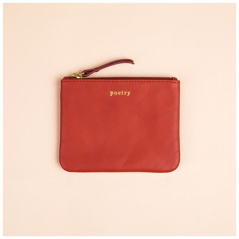 Moira Small Leather Pouch -  rust