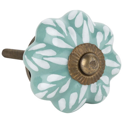 Sea Green Leaf Knob