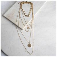 Filigree Multi-layered Necklace -  gold