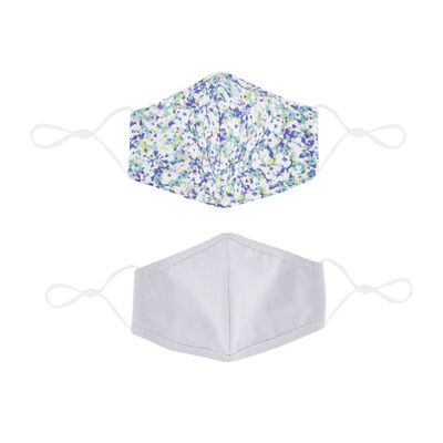 2-Pack Ditsy Printed Fabric Face Masks
