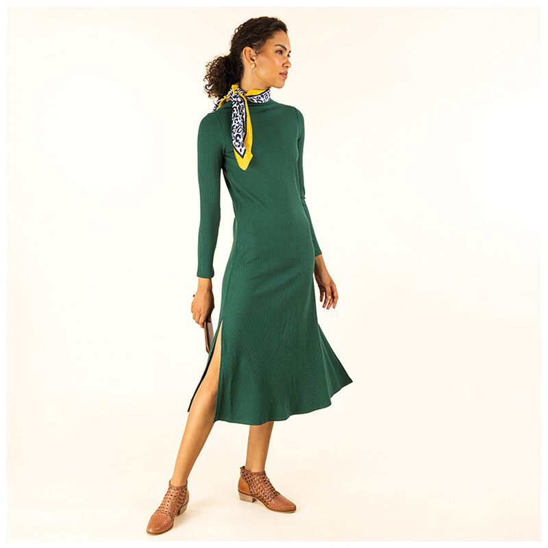 Wilma Knit Maxi Dress -  emerald