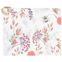 Growing Paper Floral Bee Tag -  assorted
