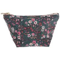 Dahlia Cosmetic Bag -  pink-green