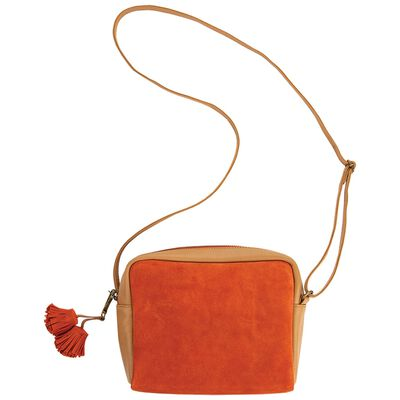 Giana Suede and Leather Cross Body Bag