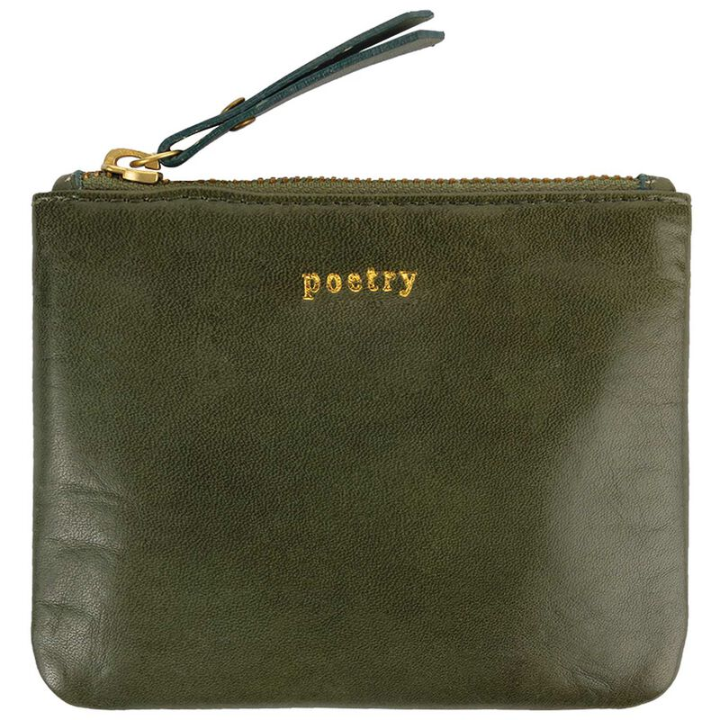 Moira Leather Small Pouch -  emerald