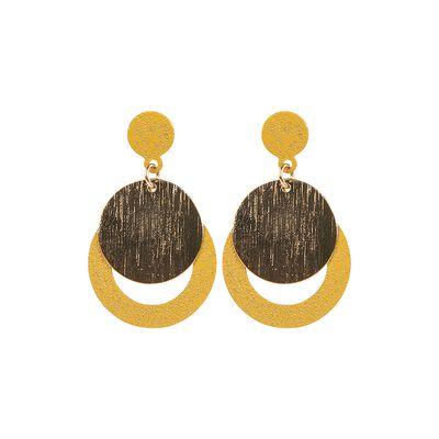 Circular Layered Drop Earrings