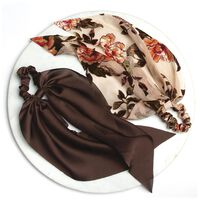 Velvet & Satin 2-Pack Hair Ties -  chocolate-brown