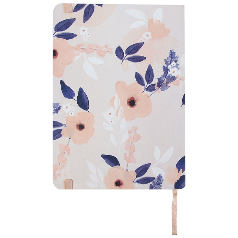 Amber Frangipani Notebook -  pink-blue