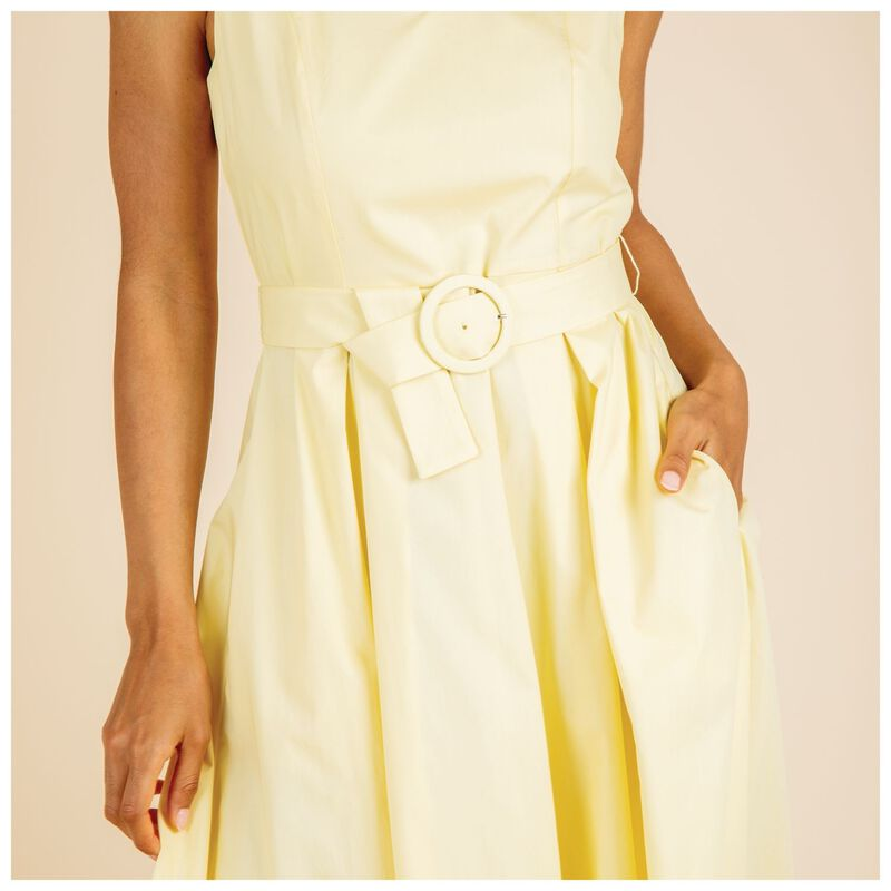 Storm Poplin Dress -  yellow