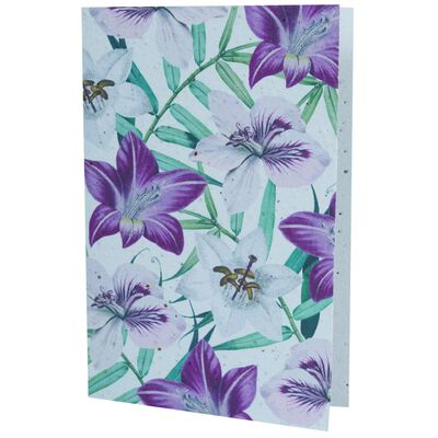 Growing Paper Hibiscus Floral Card