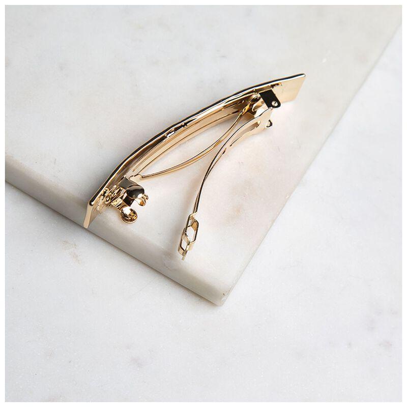 Mikki Hammered Gold Clip -  gold