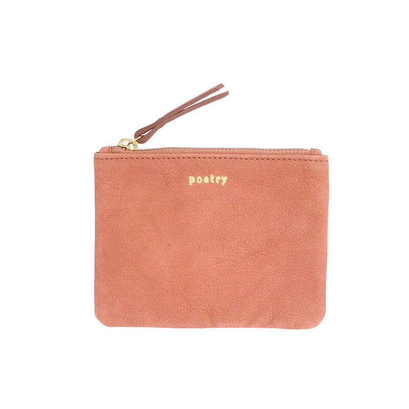 Moira Leather Small Pouch -  rose