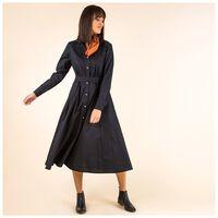 Viv Shirt Dress -  black