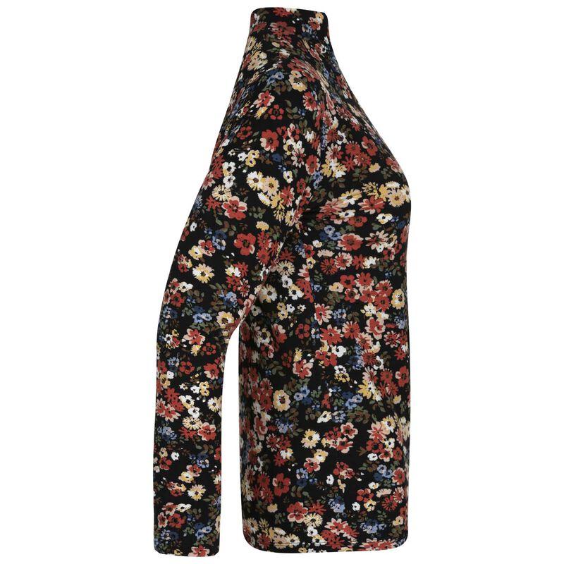 Laken Floral Polo Neck -  red