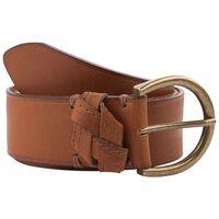 Gwen Horseshoe Leather Belt -  tan