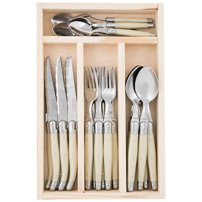 Laguiole Cutlery Set Rustic Natural