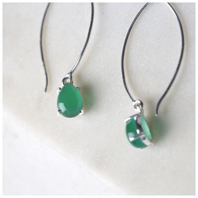 Green Onyx Drop Earrings