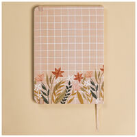 Floral Grid Notebook -  assorted