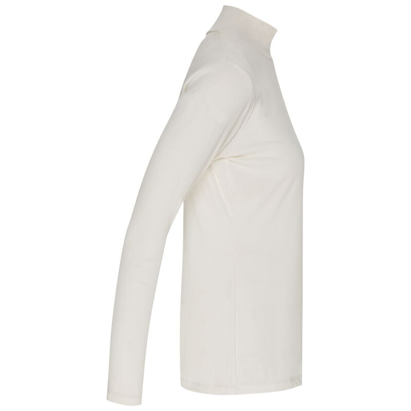 Poetry Viscara Ribbed Polo Neck -  milk