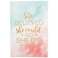 She Believed She Could So She Did Sachet -  assorted