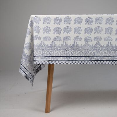 Amrita Navy Embroidered Tablecloth