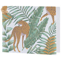 Growing Paper Wild Jungle Tag -  green-ochre